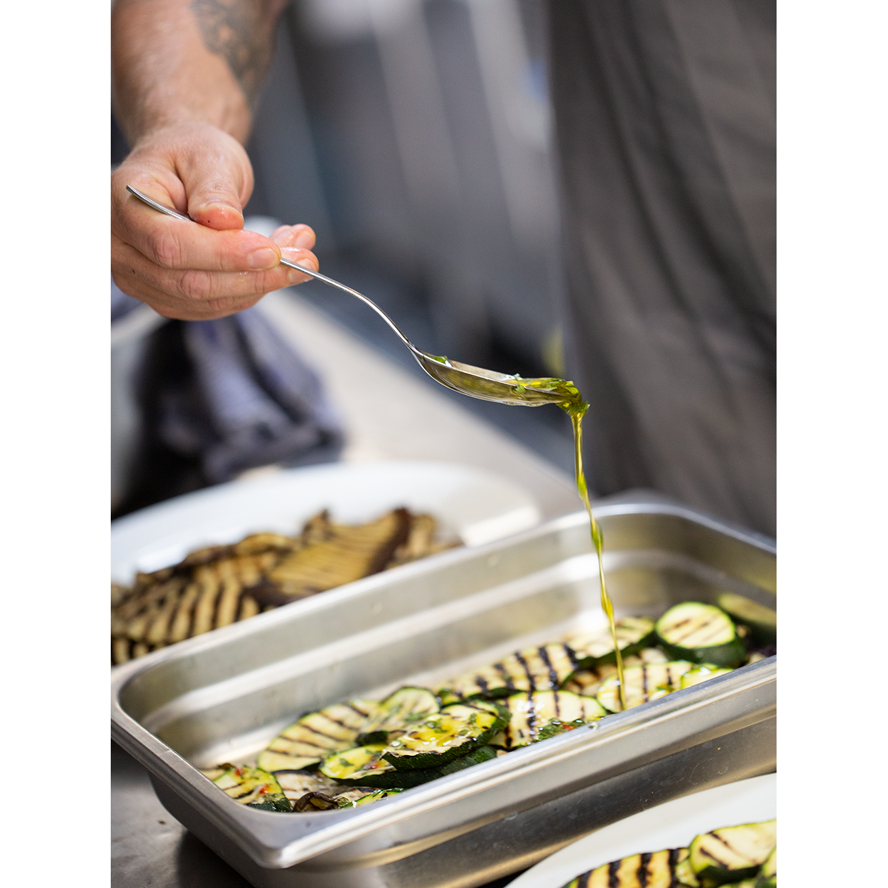 Dressing voor over courgettes